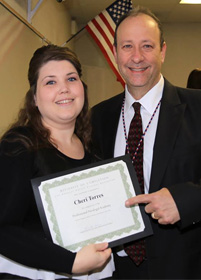 legal field careers paralegal graduate cheri with instructor Jonathan Arnold from www.thecrashdoctor.com photo